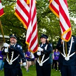 PWFD Color Guard leads the first lap at Relay For Life 2012.